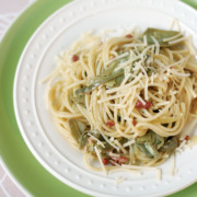 Spaghetti with Artichokes and Pancetta
