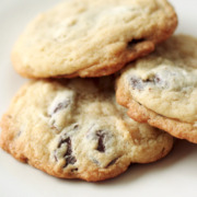 Marzipan Chocolate Chip Cookies