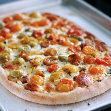 cherry tomato pizza margherita love and olive oil. Black Bedroom Furniture Sets. Home Design Ideas