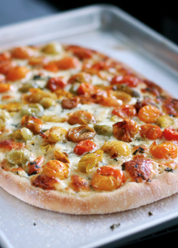 Cherry Tomato Pizza Margherita