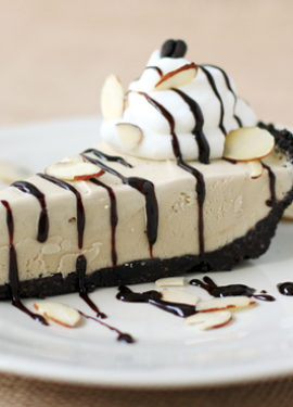 Mud Pie with Homemade Decaf Coffee Ice Cream