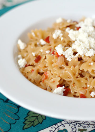 Risotto Style Pasta with sundried Tomatoes and Goat Cheese