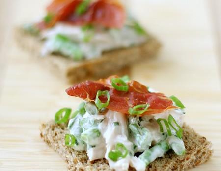 Open-Face Chicken Salad Sandwiches