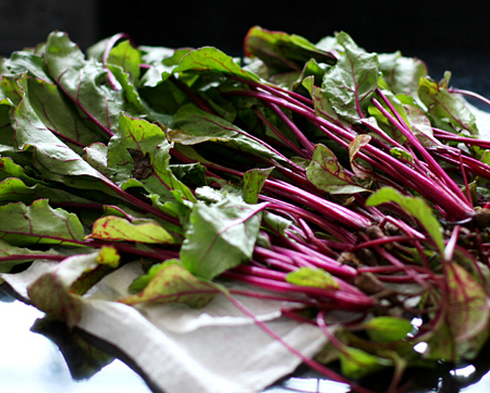 Fresh Organic Beet Greens from our CSA
