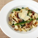 Orecchiette with Italian Sausage, Broccoli Rabe and Anchovy Croutons