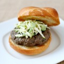 Portobello Buffalo Burgers with Celery Apple Slaw