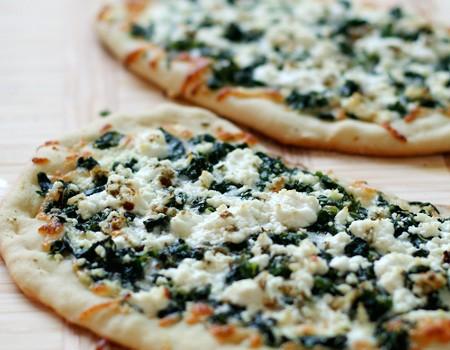 Lemony Zucchini Goat Cheese Pizza Recipe — Dishmaps