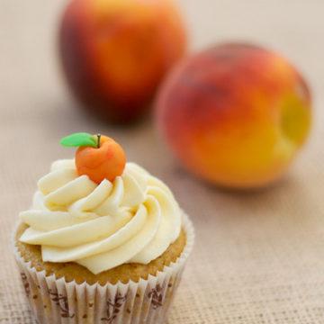 Peach Bourbon Cupcakes