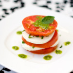 Caprese Salad with Basil Vinaigrette
