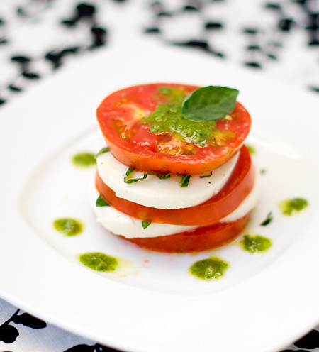 Caprese Salad with Basil Vinaigrette | Love and Olive Oil