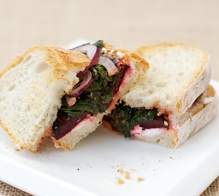 Roasted Beet and Goat Cheese Sandwiches | Love and Olive Oil