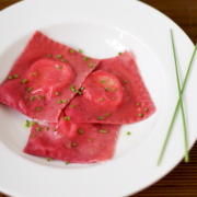 Beet and Goat Cheese Ravioli