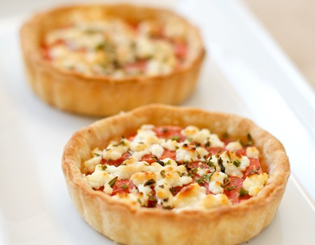 French Tomato Tartlets with Goat Cheese and Herbs