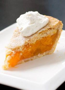 Vanilla Peach Pie