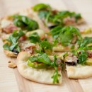 Fig, Prosciutto, and Arugula Pizza