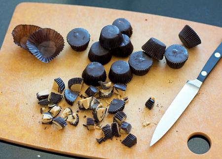 Dark Chocolate Peanut Butter Cup Cookies