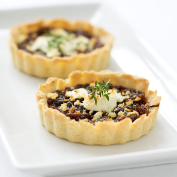 Balsamic Onion Tart with Goat Cheese and Thyme