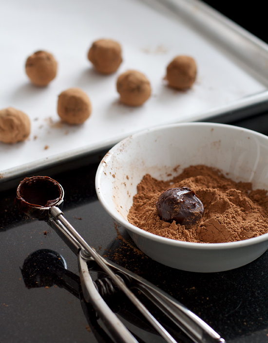 Caramel-Dark Chocolate Truffles with Fleur de Sel | Love and Olive Oil