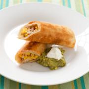 Pan Fried Crispy Chicken Flautas
