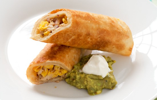 Pan Fried Crispy Chicken Flautas