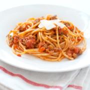 Spaghetti with Fresh Soppressata