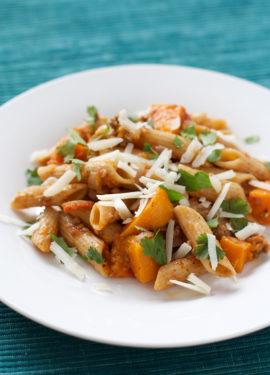Multi-Grain Pasta with Lamb and Butternut Squash