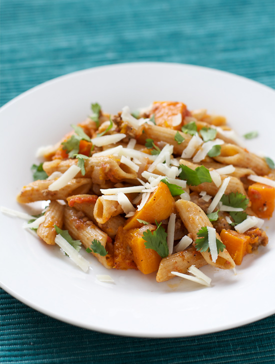 Multi-Grain Pasta with Lamb and Butternut Squash