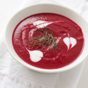 Beet and Fennel Soup with Kefir