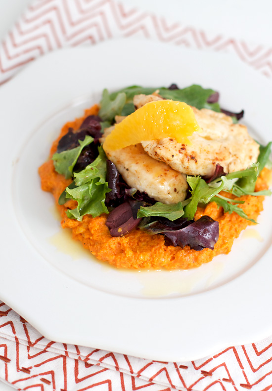 Moroccan chicken with carrot puree love and olive oil moroccan chicken with carrot puree forumfinder