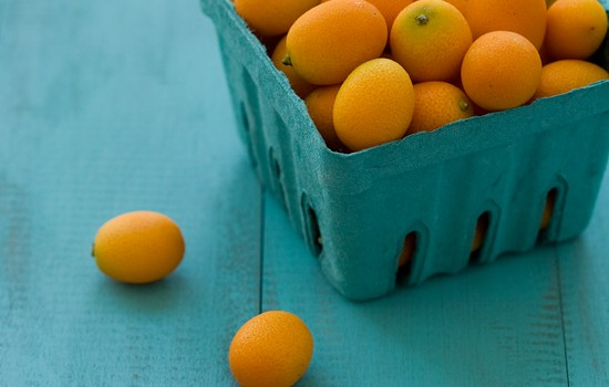 Kumquats on Homemade DIY Distressed Wood Background