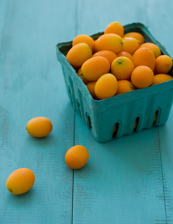 Kumquats on Homemade DIY Distressed Wood Background