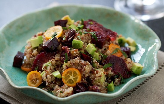 Beet, Blood Orange, Kumquat, and Quinoa Salad