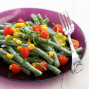 Green Bean Salad with Goat Cheese Dressing