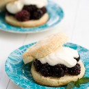 Blackberry Shortcakes with Goat Cheese Cream