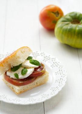 Heirloom Tomato Caprese Sandwiches