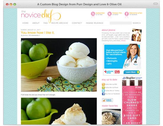 Custom WordPress Food Blog Design