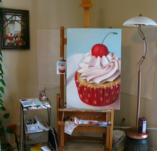 Cupcake Painting by Sarah Wain