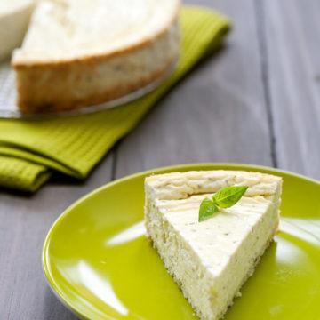 Savory Basil and Goat Cheese Cheesecake