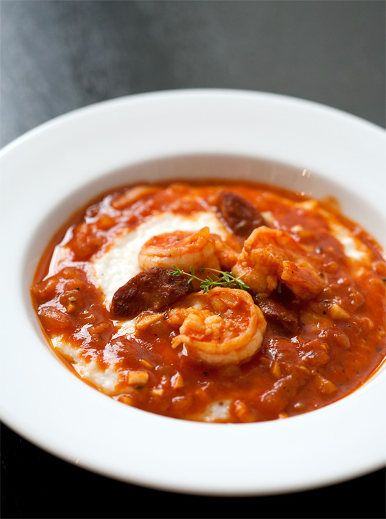 Etouffee-Style Shrimp and Grits