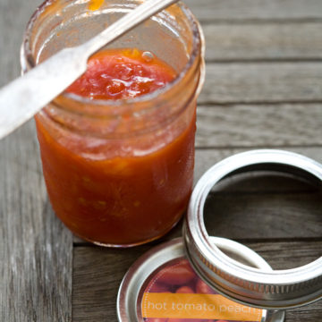 Spicy Tomato Peach Jam