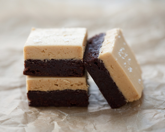 Salted Peanut Butter and Fleur de Sel Brownies