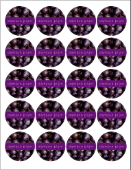 Free Printable Canning Labels - Damson Plum