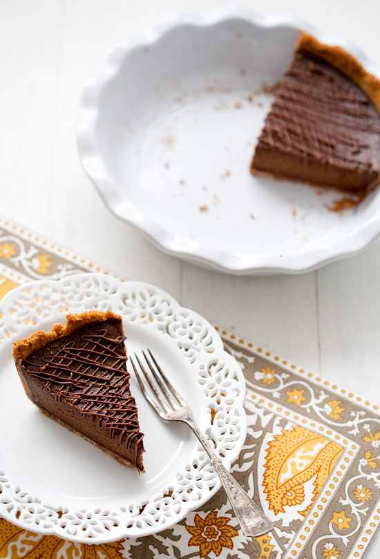 Triple-Chocolate Pumpkin Pie | Love and Olive Oil