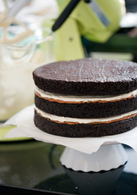 the cake itself is a chocolate stout cake made using an entire bottle ...