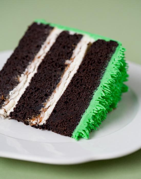 Chocolate Stout Cake with Dulce de Leche and Vanilla Bean Buttercream