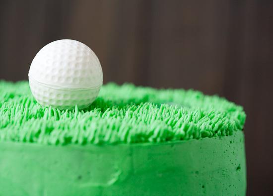 Golf Themed Birthday Layer Cake