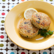 Quinoa Cakes with Lemon, Olive, and Parsley