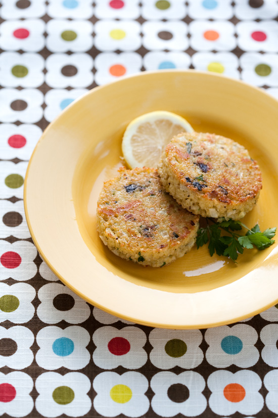 Quinoa Cakes with Lemon, Olive, and Parsley | Love and Olive Oil