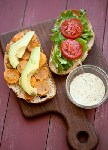 Sweet Potato and Avocado Sandwiches