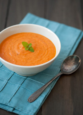 Roasted Tomato Soup with Mascarpone